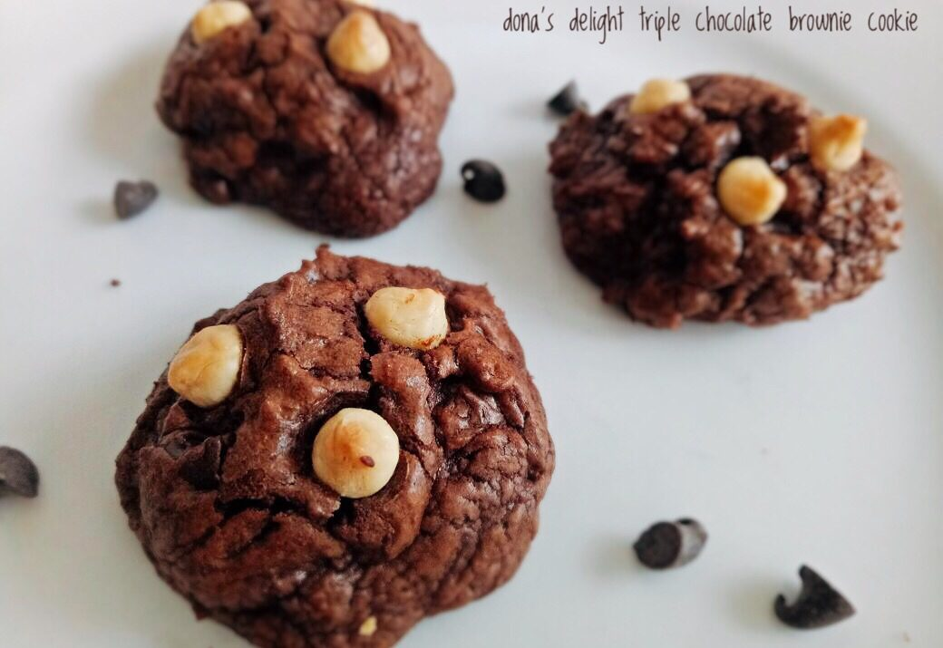 Triple Chocolate Brownie Cookie Dona S Delight