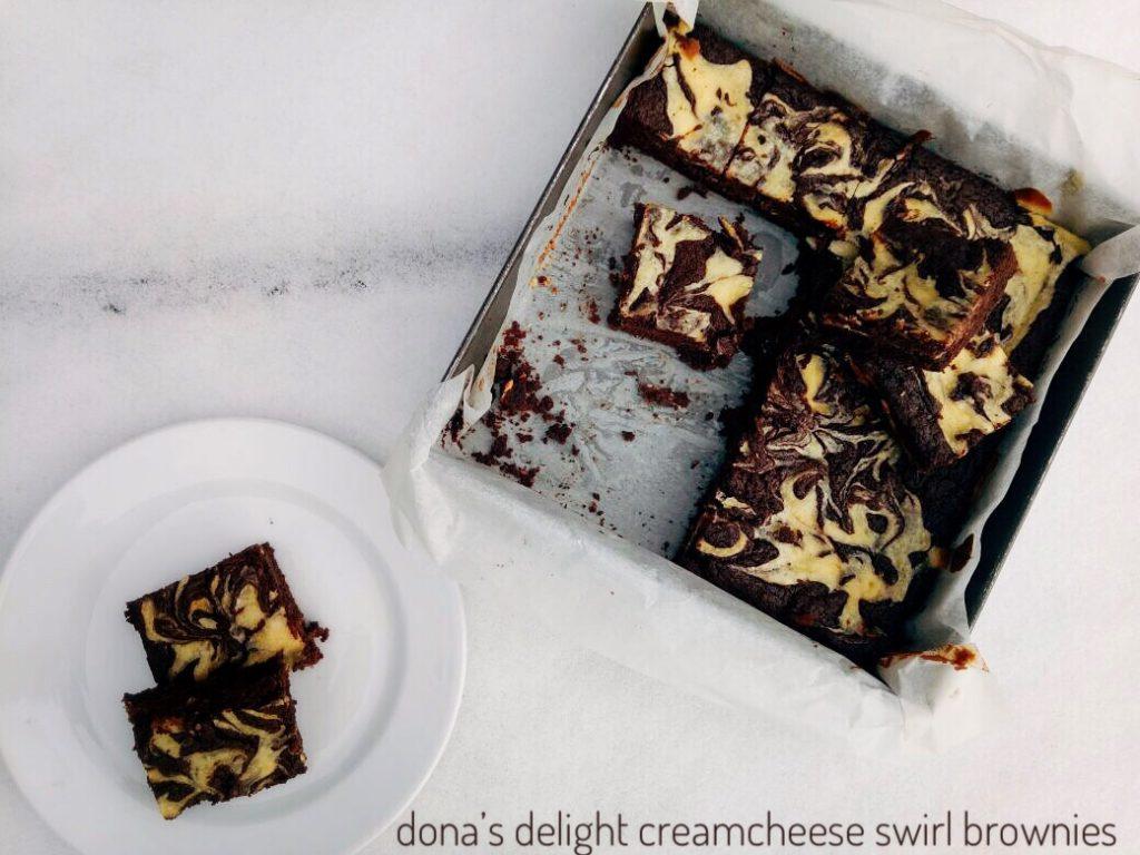Cream Cheese Swirl Brownies Dona S Delight