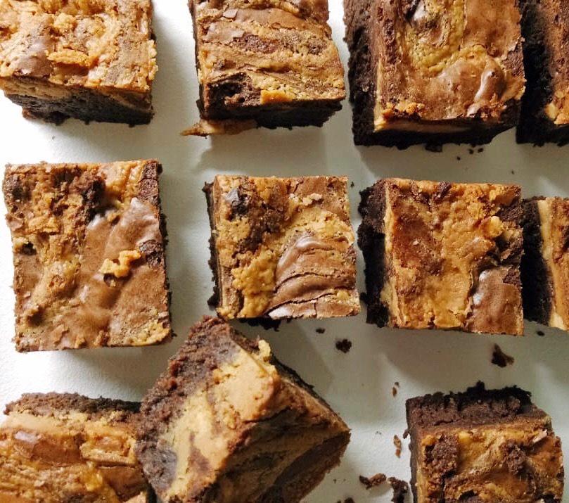 Peanut Butter Swirl Brownies Dona S Delight